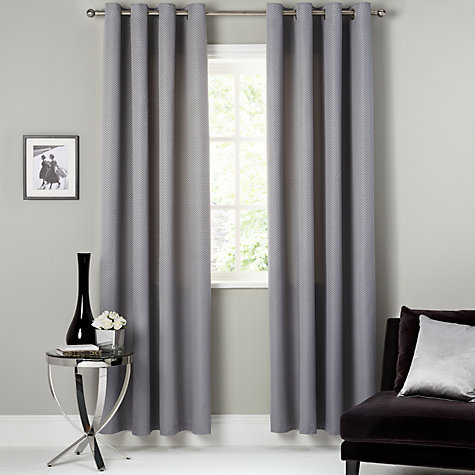 Buy John Lewis Contour Lined Eyelet Curtains John Lewis - John lewis curtains grey
