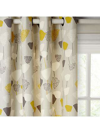 John Lewis & Partners Elin Pair Lined Eyelet Curtains, Citrine