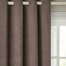 Buy John Lewis Hatch Chenille Pair Lined Eyelet Curtains Online at johnlewis.com