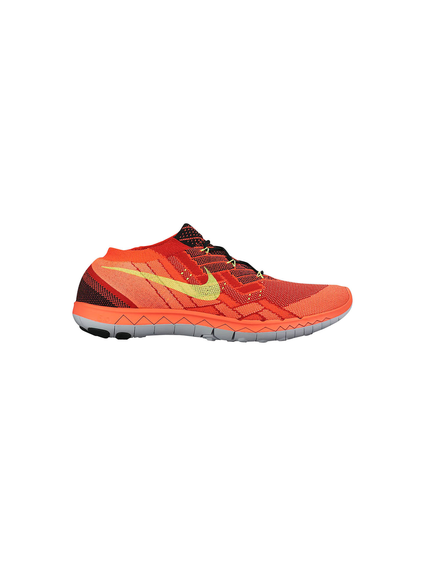 sports shoes 1b84c 48969 BuyNike Free 3.0 Flyknit Men s Running Shoes, Crimson Volt, 6.5 Online at  johnlewis ...