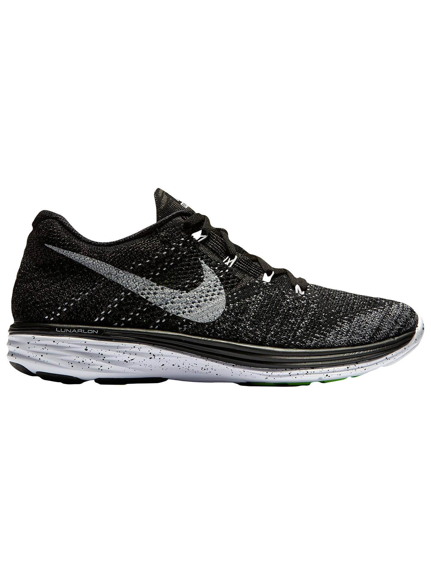 4a47aef633ce Nike Flyknit Lunar 3 Men s Running Shoes at John Lewis   Partners
