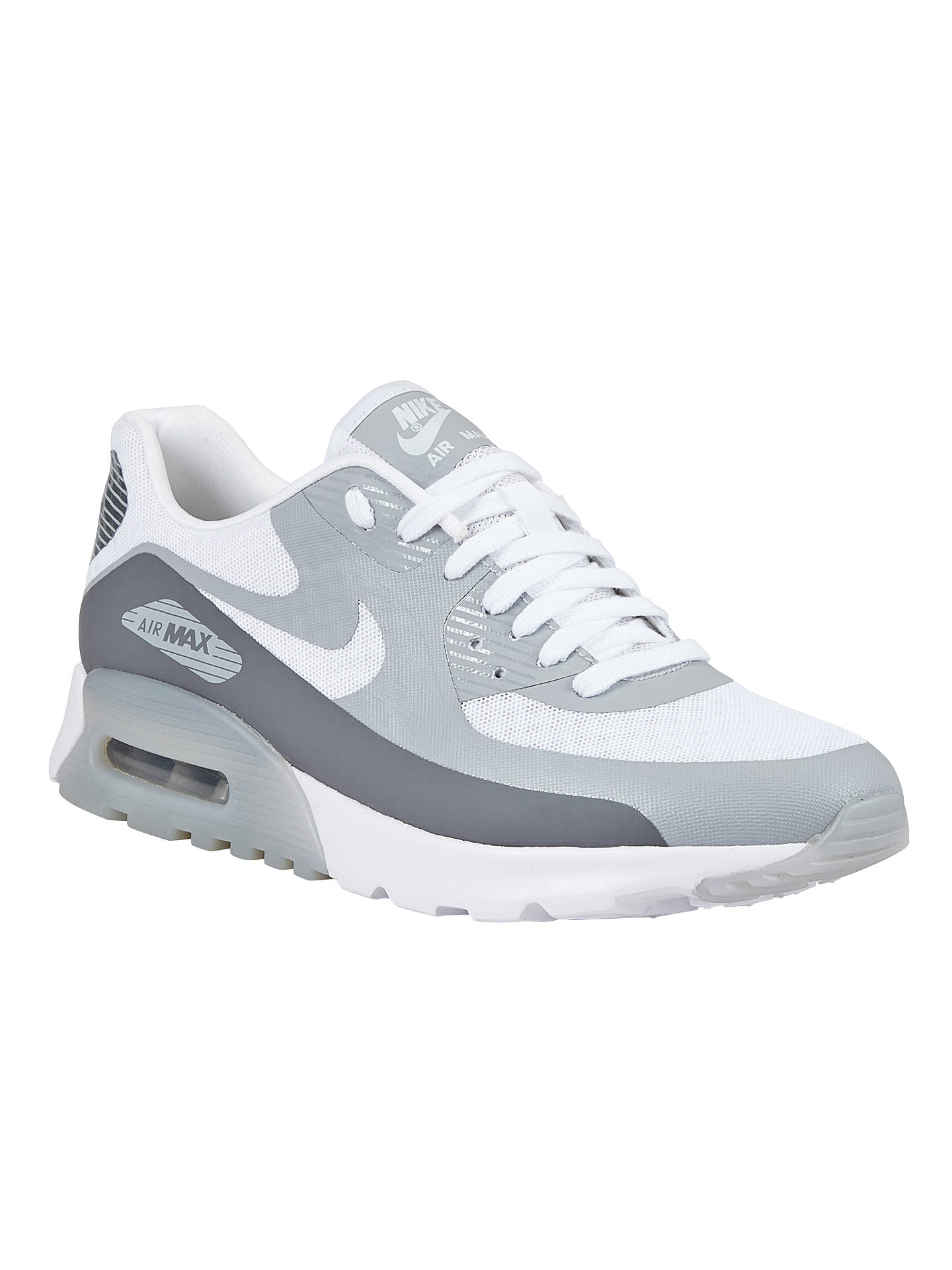 e79516d70f Buy Nike Air Max 90 Ultra Breathe Women's Trainers, White/Wolf Grey, 3 ...