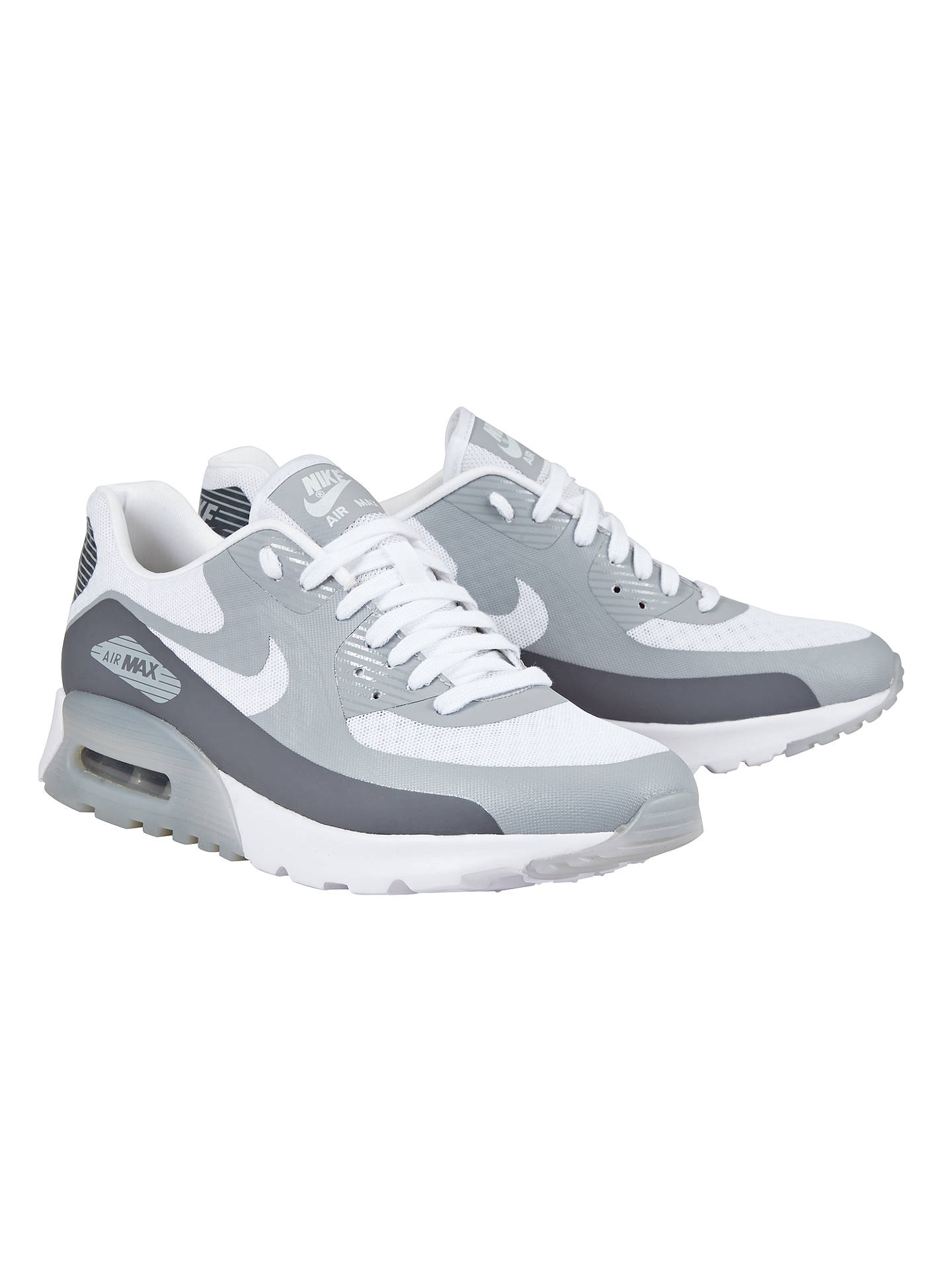 e19df24b43 ... Buy Nike Air Max 90 Ultra Breathe Women's Trainers, White/Wolf Grey, 3  ...