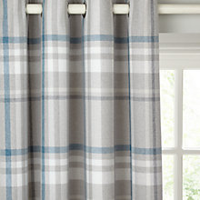 Buy John Lewis Darcey Check Lined Eyelet Curtains Online at johnlewis.com