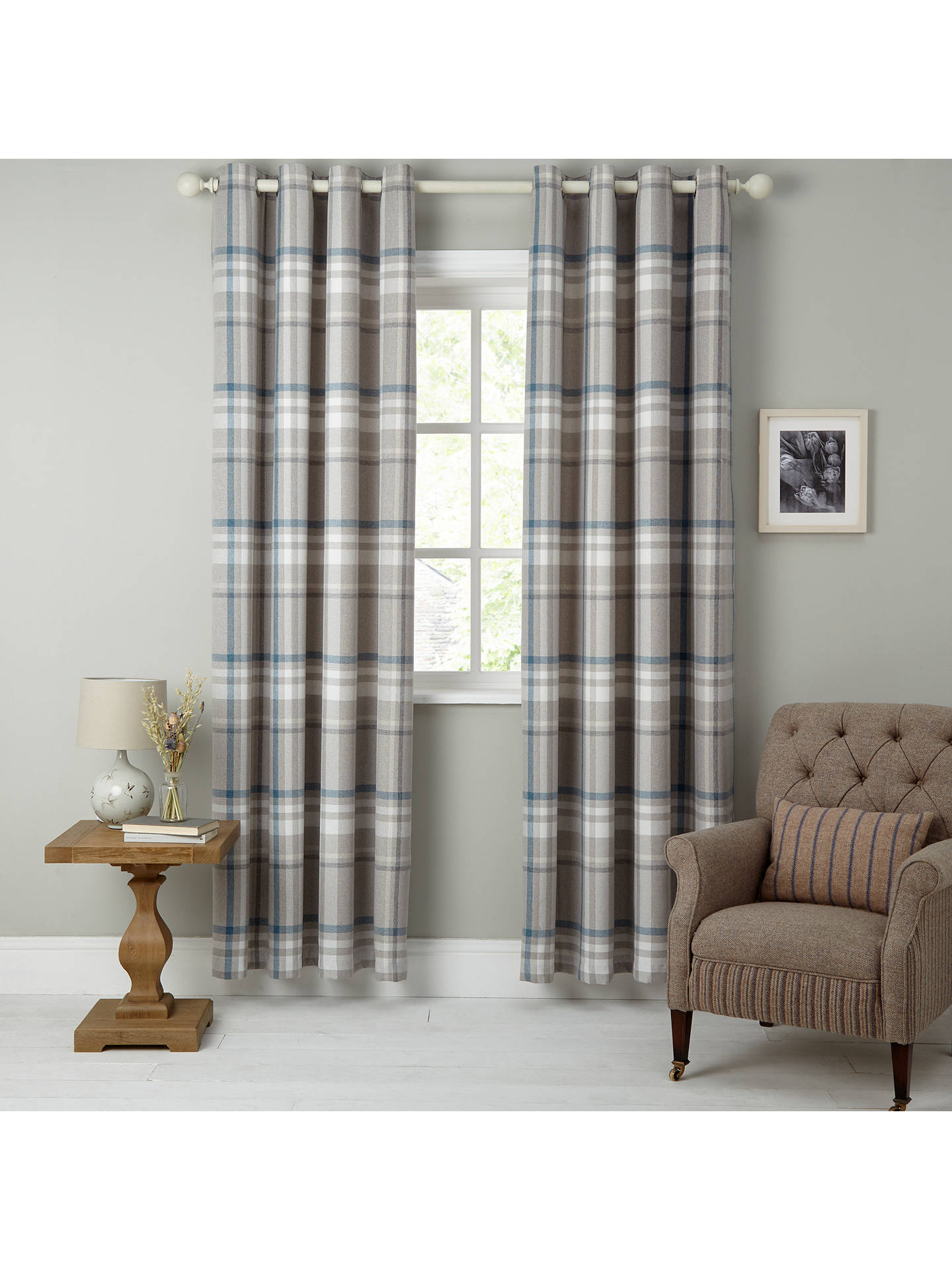 Curtains & Blinds Tiebacks Pair Brand New United Oxford Check Lined Curtains Curtains & Pelmets