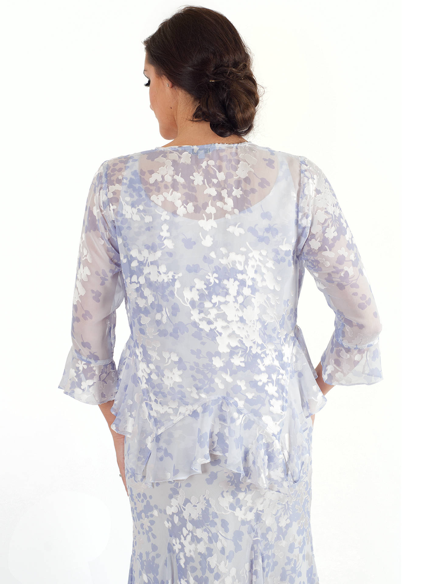 BuyChesca Lace Cap Devoree Applique Shrug, Lilac, 16 Online at johnlewis.com