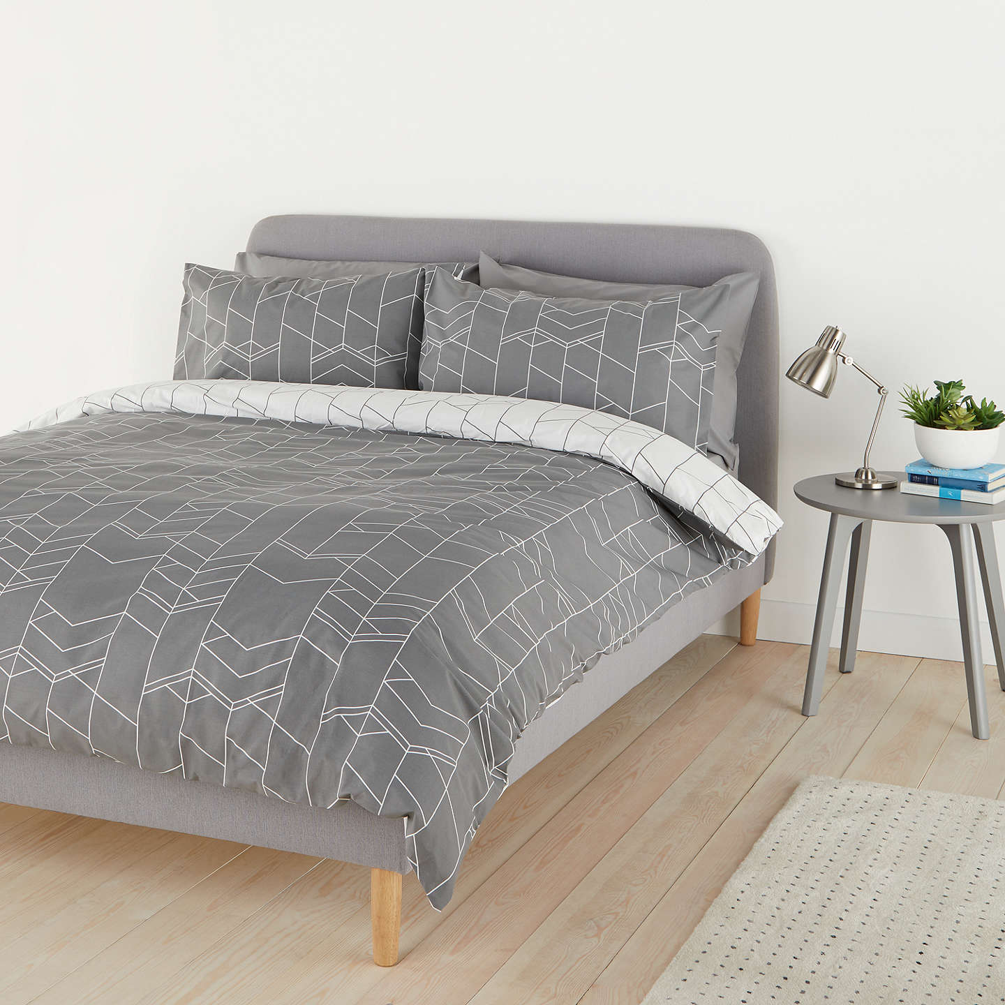 House By John Lewis Elevation Duvet Cover And Pillowcase Set Smoke Single Online At