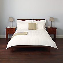 Buy John Lewis Strand Stitch Bedding, White Online at johnlewis.com