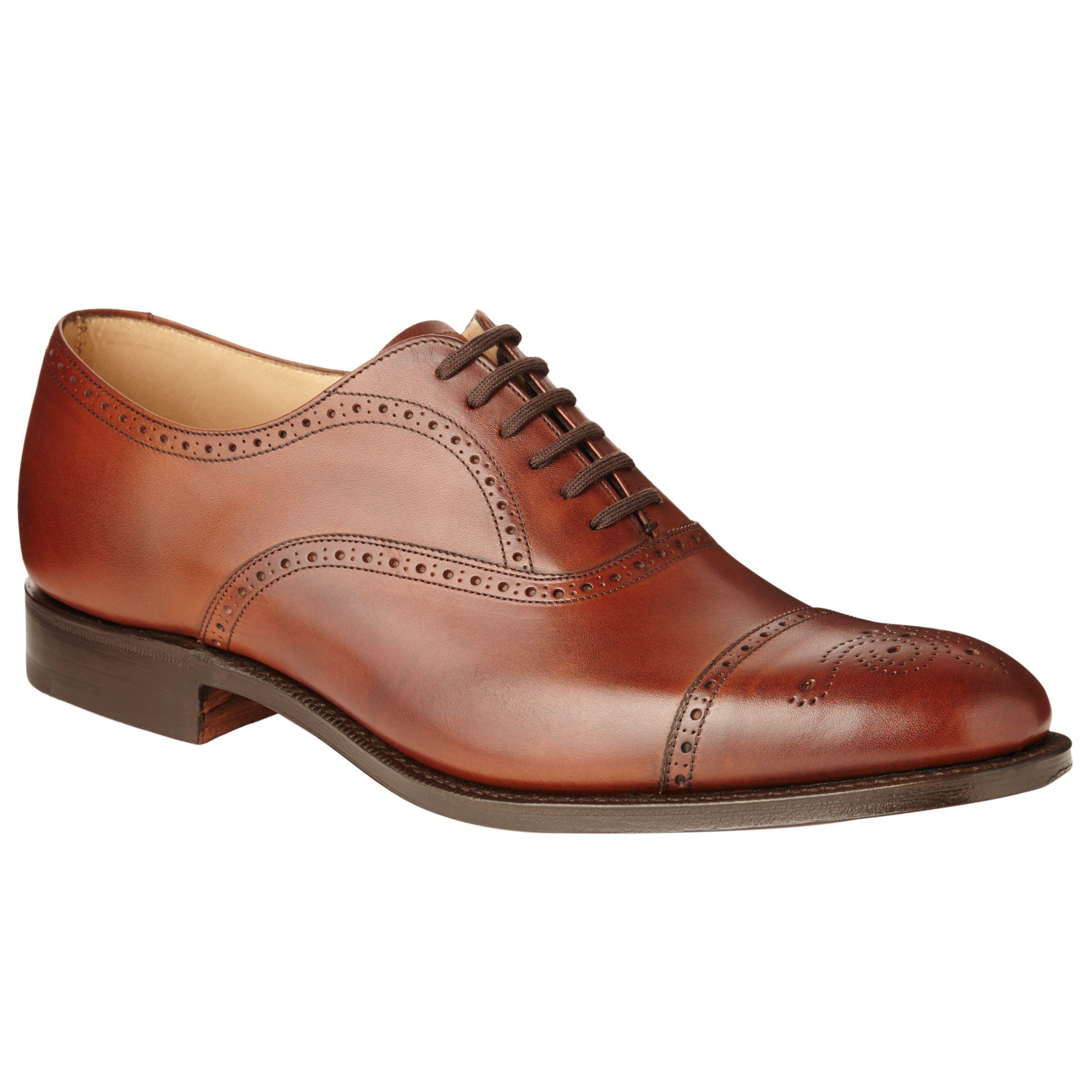 Church's Church's Toronto Leather Semi Brogue Oxford Shoes, Walnut