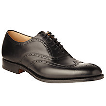 Buy Church's Berlin Leather Brogue Oxford Shoes, Black Online at johnlewis.com