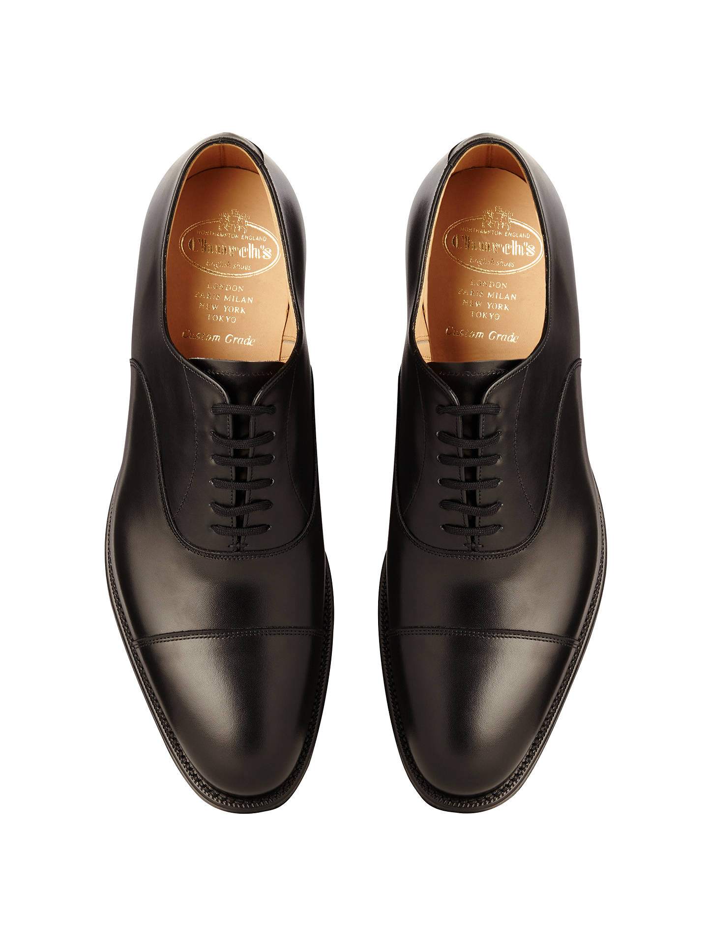 first rate 460f3 ed6f8 Church's Dubai Leather Oxford Shoes, Black