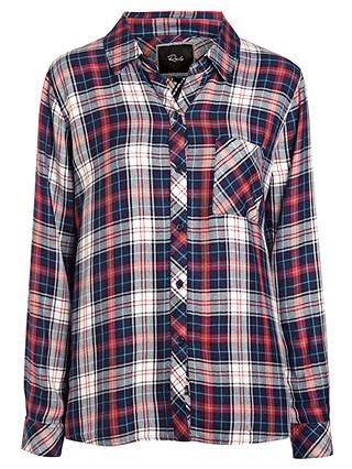 Buy Rails Hunter Plaid Shirt, Rouge/Navy, XS Online at johnlewis.com
