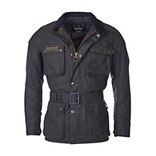 Buy Barbour International Blackwell Waxed Jacket, Sage Online at johnlewis.com