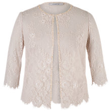 Buy Chesca Lace Jacket, Champagne Online at johnlewis.com