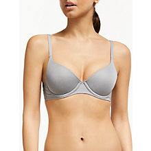 Buy John Lewis Underwired T-Shirt Bra, Grey Marl Online at johnlewis.com