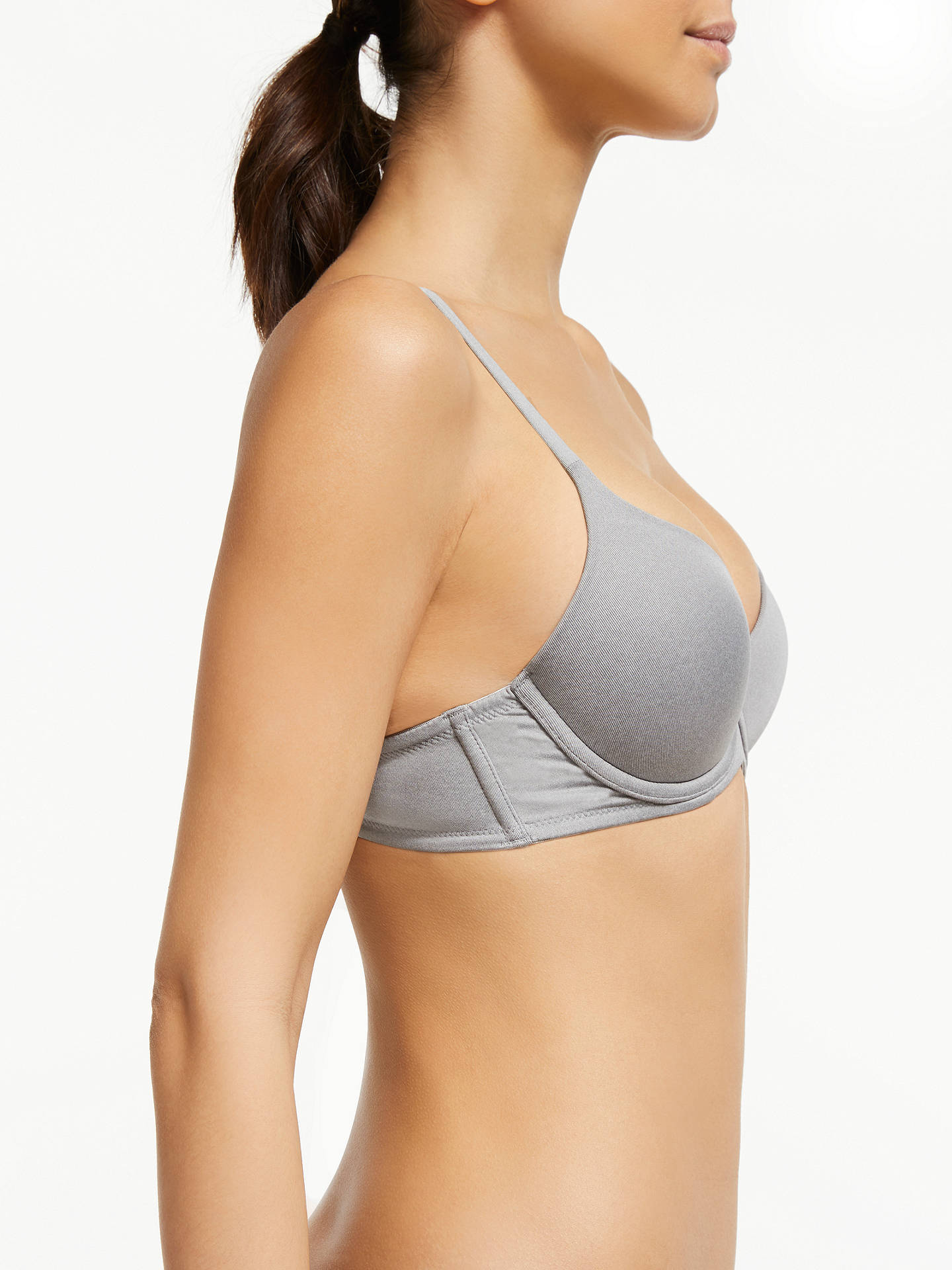 BuyJohn Lewis & Partners Underwired T-Shirt Bra, Grey Marl, 30A Online at johnlewis.com