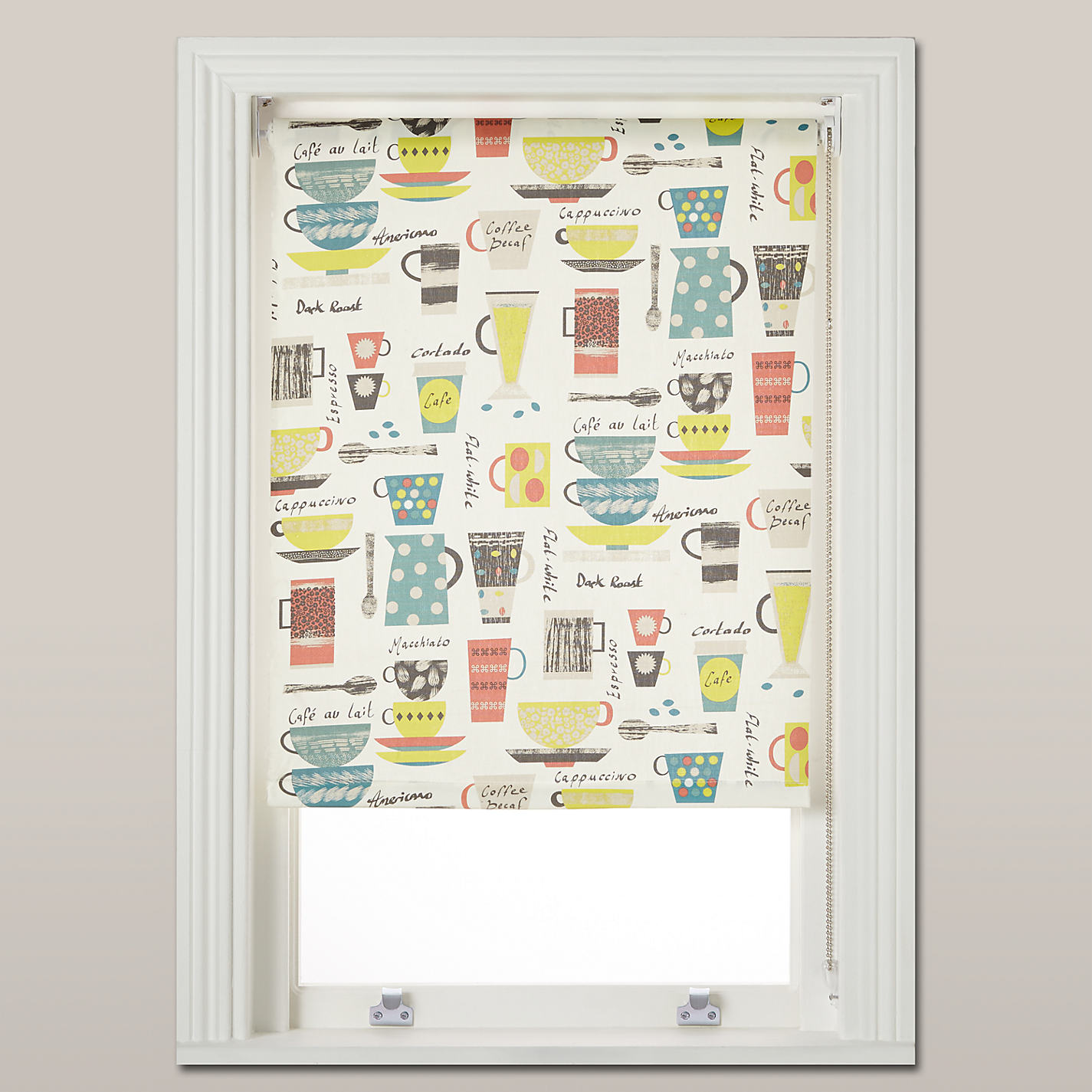 Buy John Lewis Coffee Cups Daylight Roller Blind, Multi Online At  Johnlewis.com ...