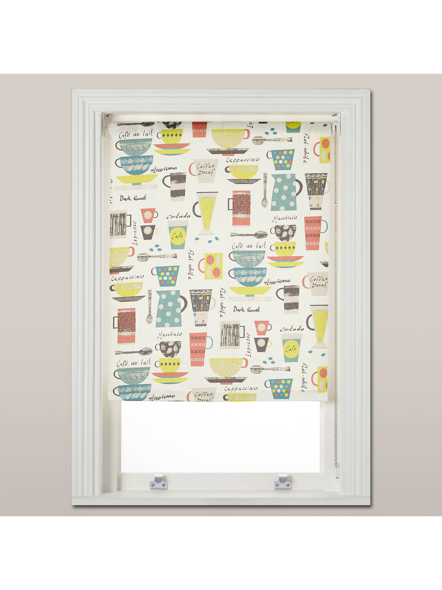 BuyJohn Lewis & Partners Coffee Cups Daylight Roller Blind, Multi, W152cm Online at johnlewis.com