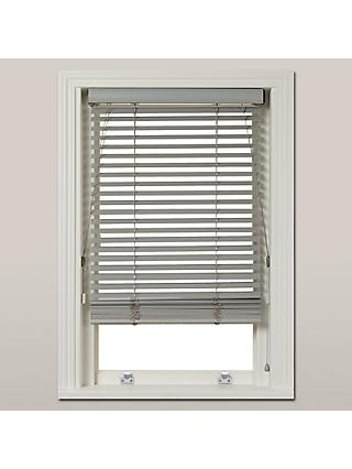 John Lewis & Partners Wood Venetian Blind, FSC-Certified, 35mm, Blue Grey