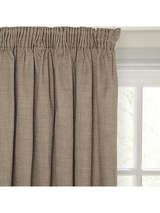 John Lewis Partners Barathea Pair Blackout Lined Pencil Pleat Curtains