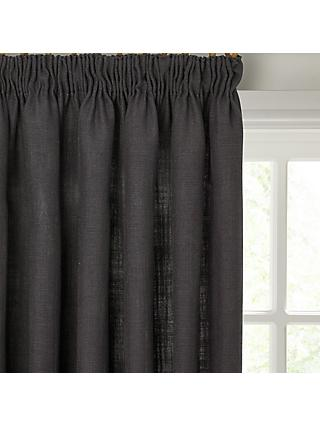 John Lewis & Partners Linen Blend Pair Lined Pencil Pleat Curtains