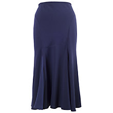 Buy Chesca Satin Back Godet Skirt, Navy Online at johnlewis.com