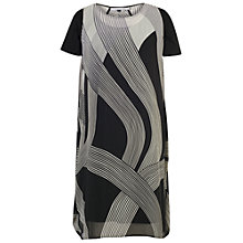 Buy Chesca Abstract Ombre Dress, Ivory/Black Online at johnlewis.com