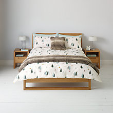 Buy John Lewis Winter Ski Scene Duvet Cover and Pillowcase Set Online at johnlewis.com