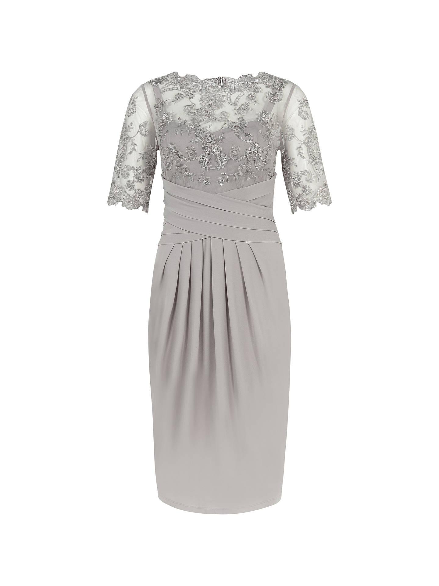 58fd11d4e7f Buy Kaliko Lace and Jersey Dress, Light Grey, 8 Online at johnlewis.com ...
