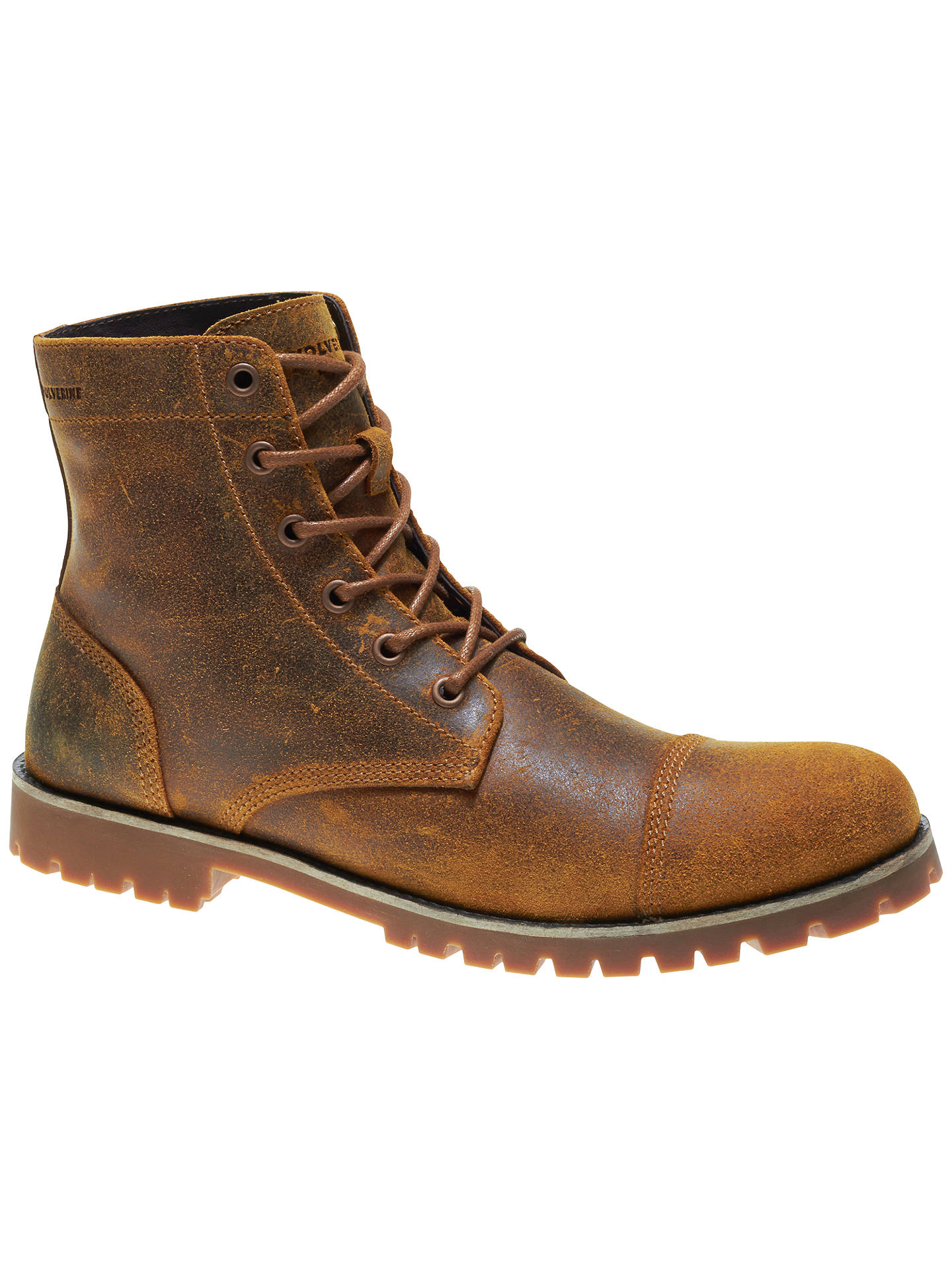 2a925ca1171 Wolverine Wilbur Leather Boots, Tan at John Lewis & Partners