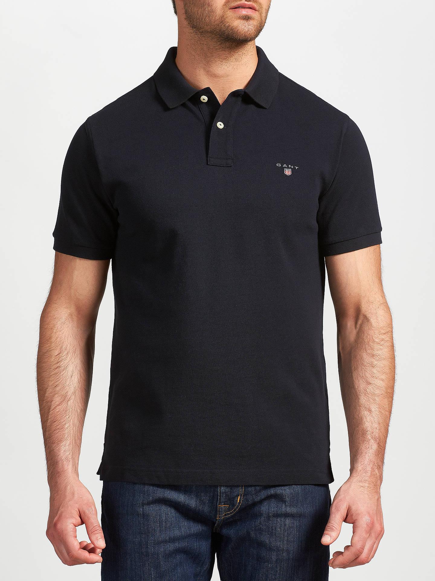 5ca8ce89a6 GANT Solid Pique Polo Shirt, Marine