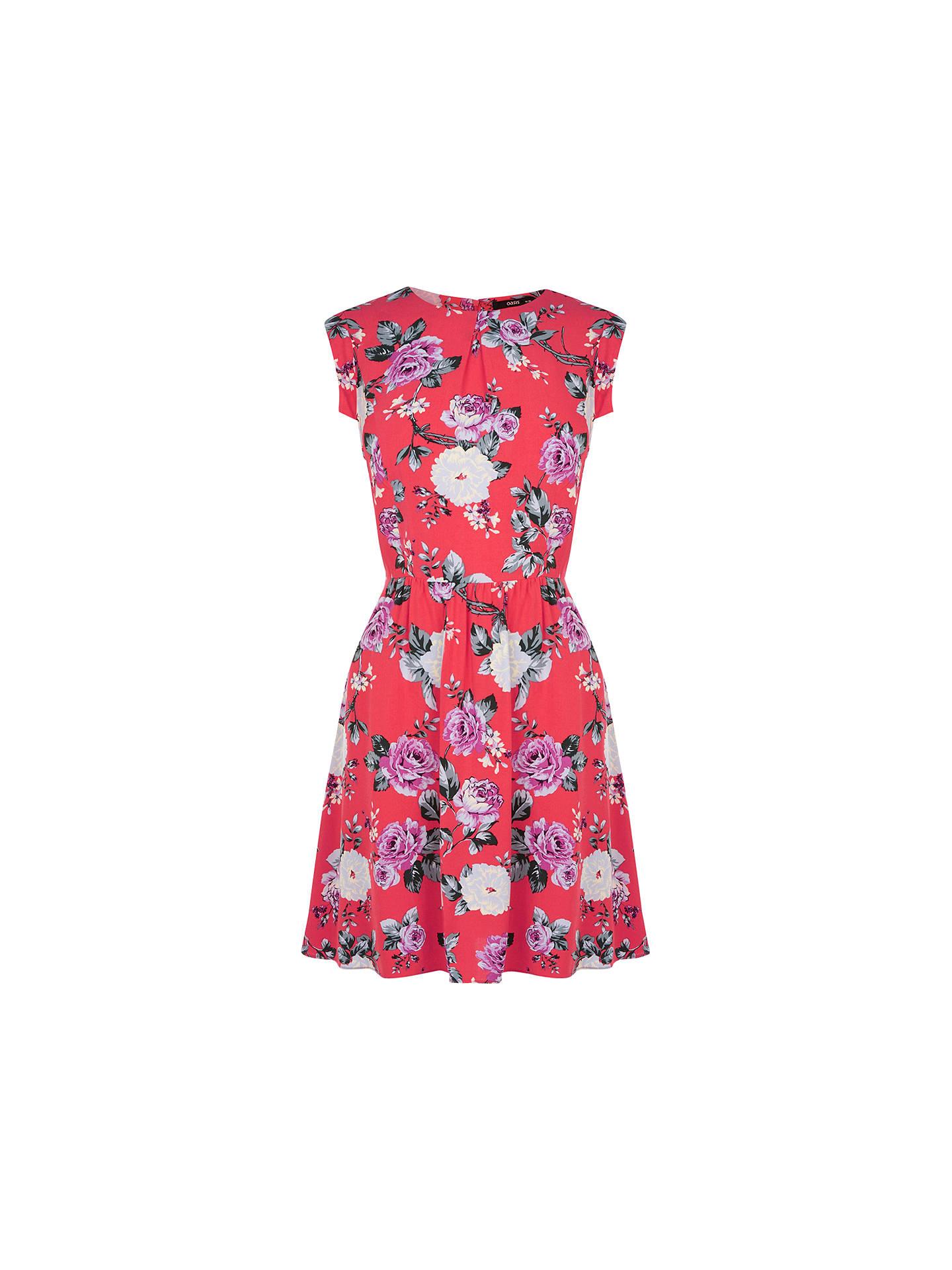b2a13feabaf4 Buy Oasis Rose Skater Dress, Coral, 8 Online at johnlewis.com ...