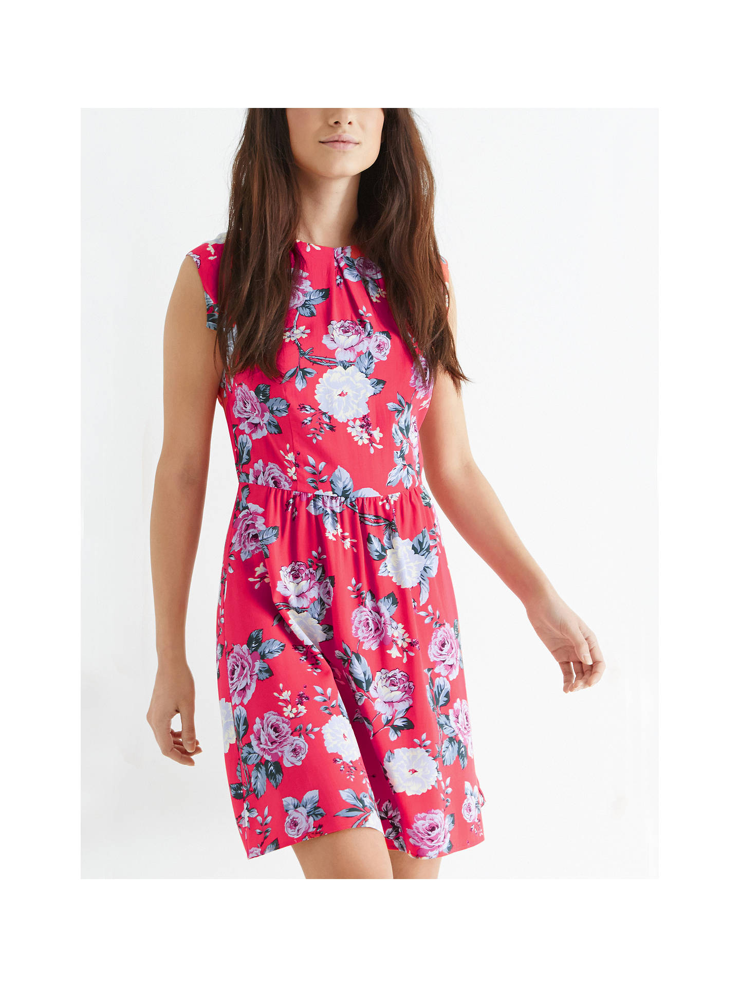 86e23f37dad6 ... Buy Oasis Rose Skater Dress, Coral, 8 Online at johnlewis.com