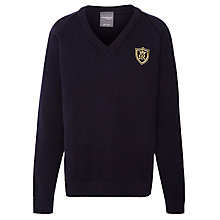 Buy St Mary's School V-Neck Logo Jumper, Navy Online at johnlewis.com