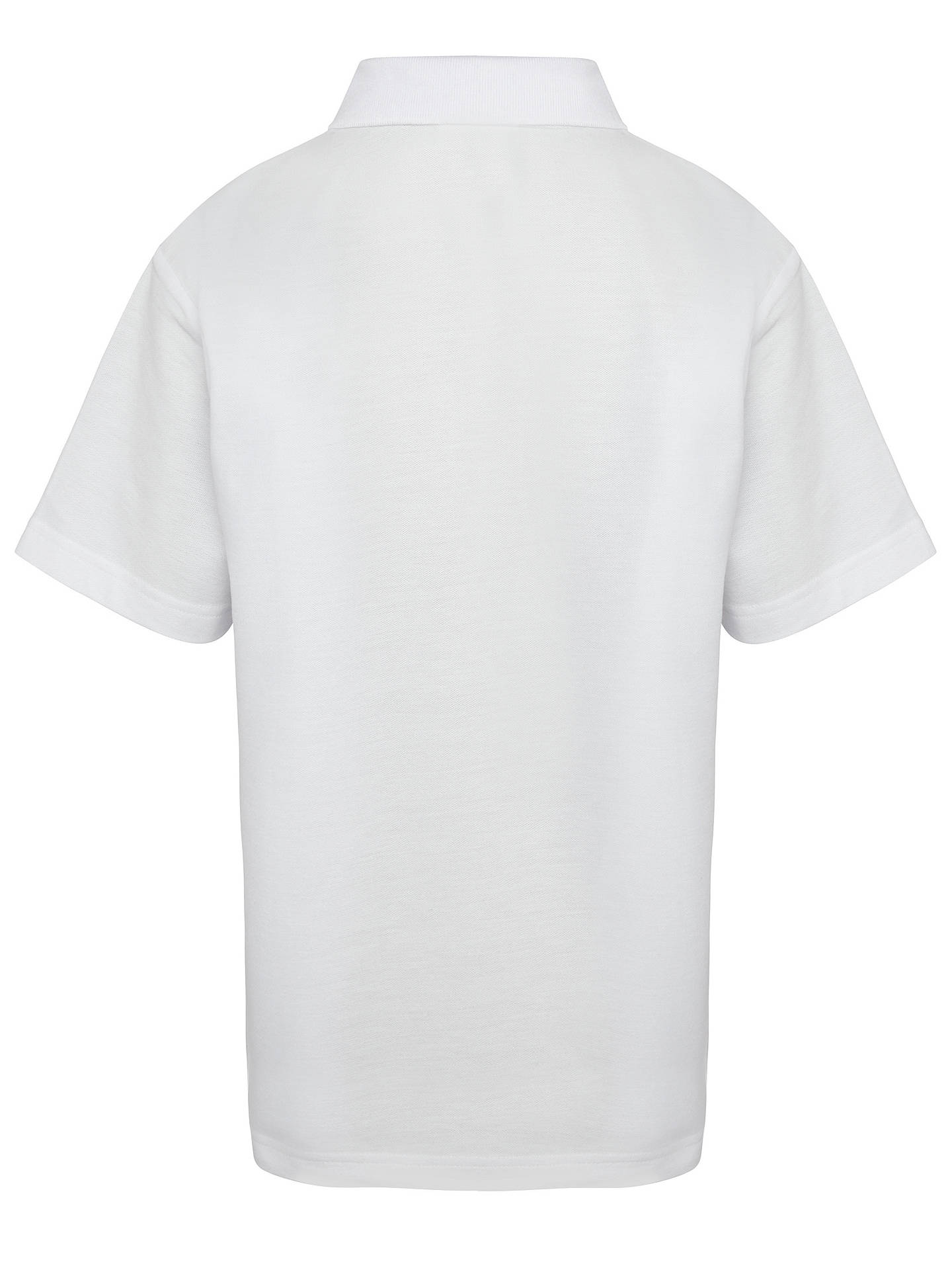 Buy Ashfold School Polo Shirt, White, 2-3 years Online at johnlewis.com