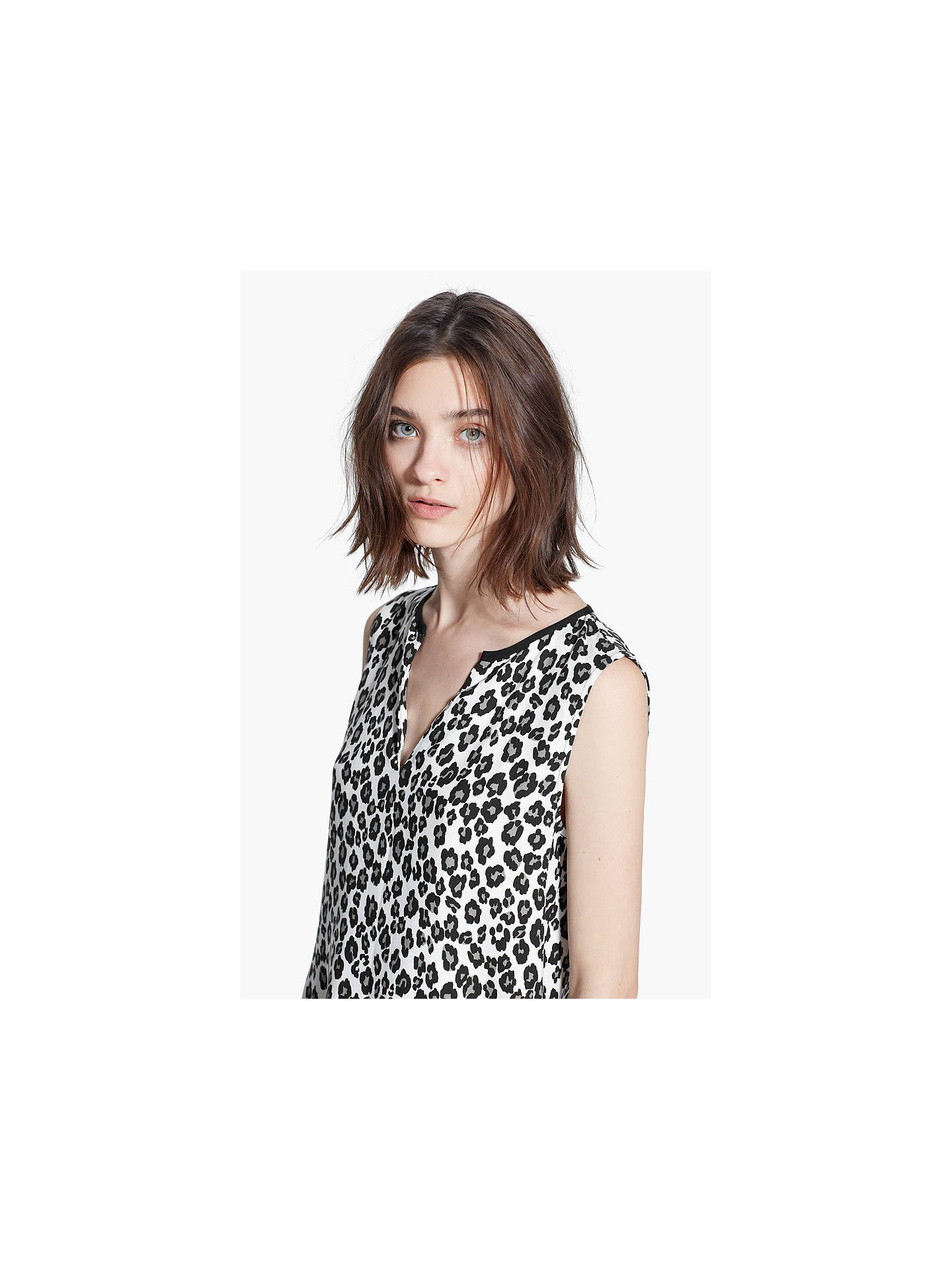09fe04b67d79bd ... Buy Mango Leopard Print Dress, Natural White, 6 Online at johnlewis.com