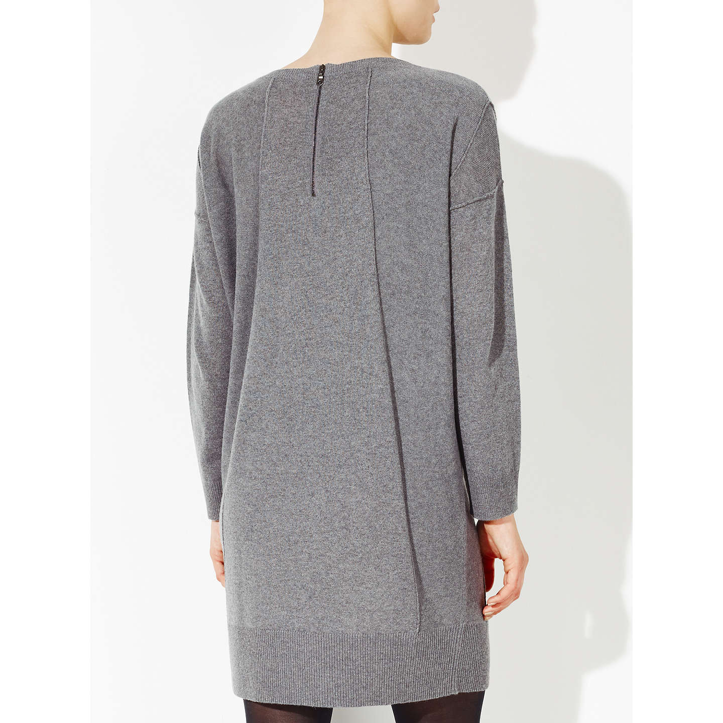 BuyKin by John Lewis Reverse Seam Cocoon Dress, Grey, 8 Online at johnlewis.com