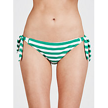 Buy John Lewis Textured Nautical Stripe Bikini Briefs Online at johnlewis.com