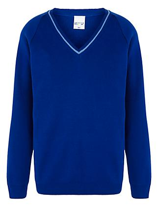 Italia Conti Academy V-Neck Jumper, Royal Blue