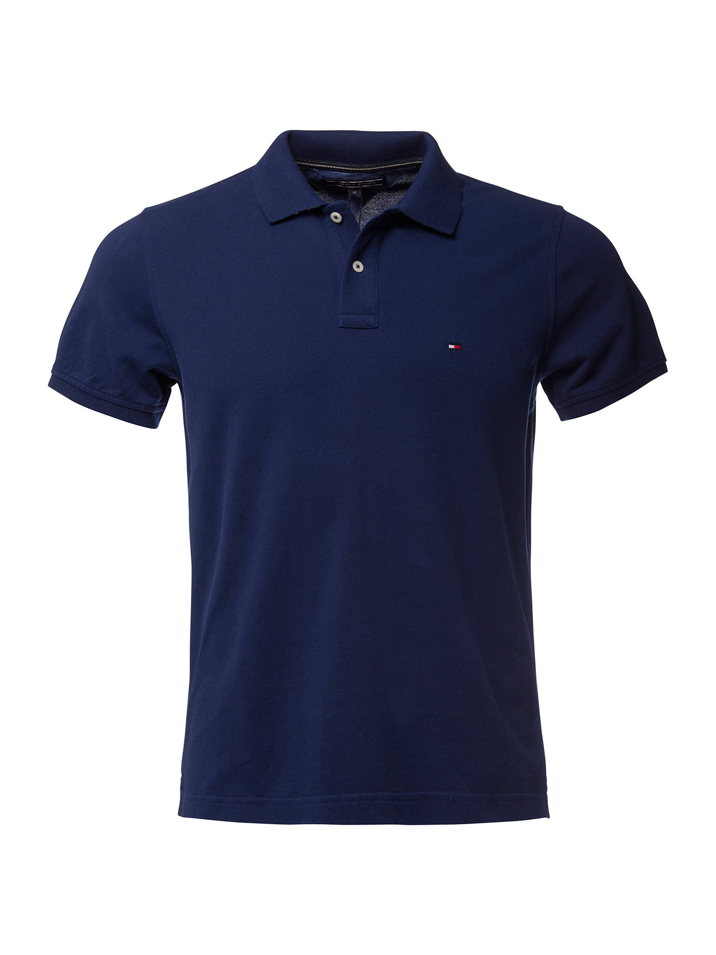 3bf61593 Buy Tommy Hilfiger Slim Fit Polo Shirt, Medieval Blue, S Online at  johnlewis.