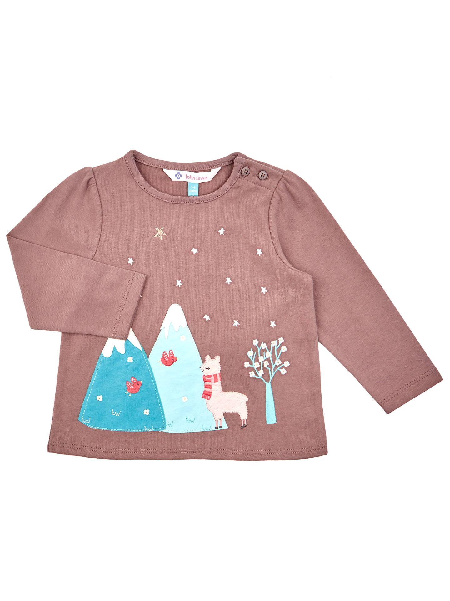 ef8db82ff17f John Lewis Baby s Long Sleeve Llama T-Shirt