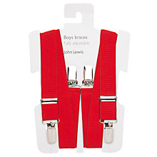 Buy John Lewis Boy Braces, Red Online at johnlewis.com