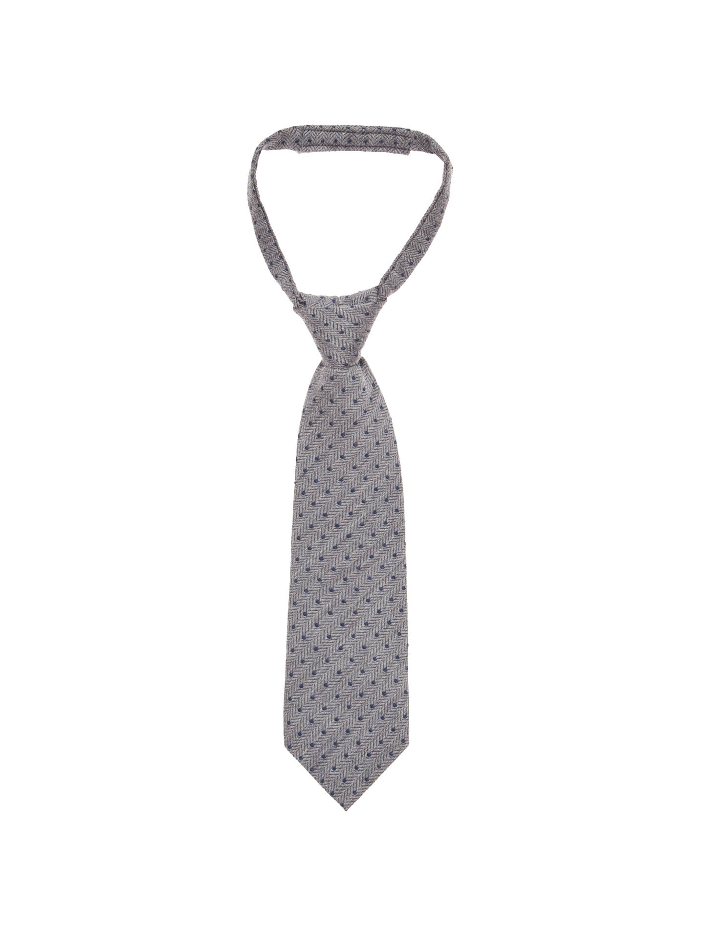 Buy John Lewis Boy Wool Spot Tie, Grey, S/M Online at johnlewis.com