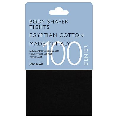 John Lewis Cotton Blend Bodyshaper Opaque Tights