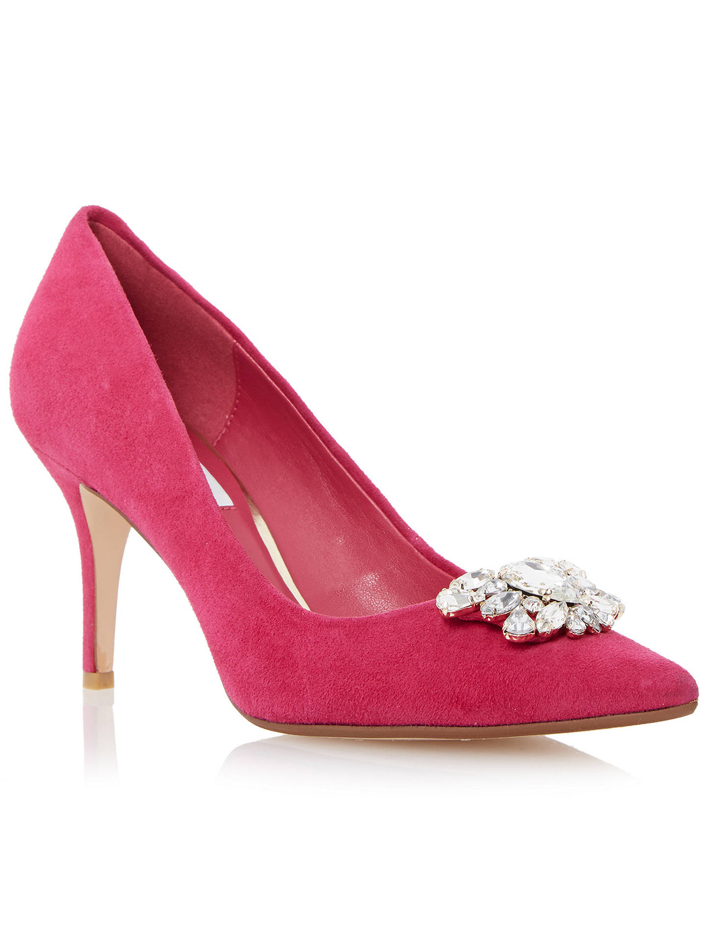 1281b2070a Buy Dune Belles Embellished Court Shoes, Raspberry, 3 Online at  johnlewis.com ...