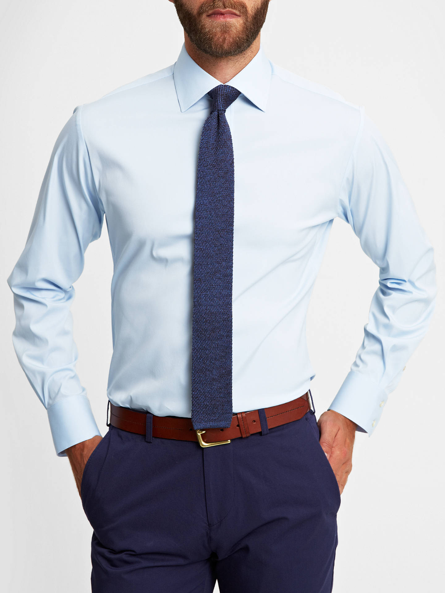 Thomas Pink Rock Plain Athletic Fit Shirt At John Lewis Partners