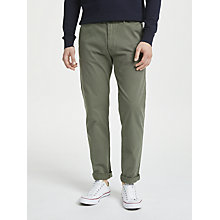 Buy Scotch & Soda Stuart Peached Twill Chinos, Grey Online at johnlewis.com