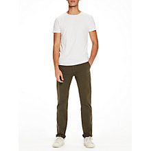 Buy Scotch & Soda Fresh Crew Neck T-Shirt, White Online at johnlewis.com