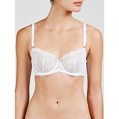 COLLECTION by John Lewis Genevieve Lace Non-Padded Balcony Bra, White
