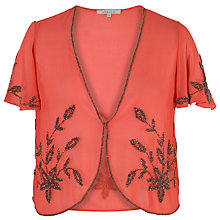 Buy Chesca Beaded Bolero, Coral Online at johnlewis.com